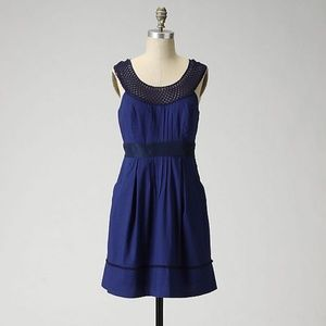 Floreat by Anthropologie Navy Blue Dress